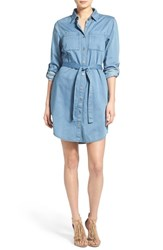 Women's Minkpink 'In A Daze' Chambray Shirtdress
