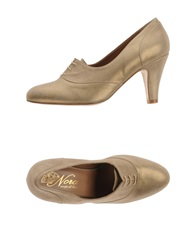 Nora Lace Up Shoes Gold