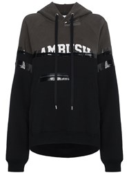 Ambush Taped Logo Hooded Sweatshirt Black