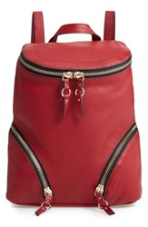 Vince Camuto Katja Leather Backpack Red Pepper Berry
