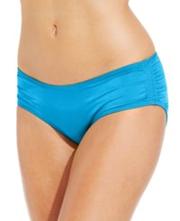 Coco Reef Ruched Hipster Bikini Bottom Women's Swimsuit Cerulean