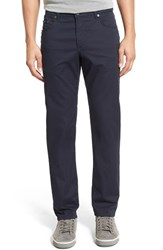 Men's Brax Flat Front Stretch Cotton Trousers Perma Blue