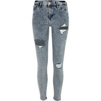 River Island Womens Acid Wash Ripped Molly Jegging