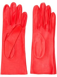 Manokhi Fitted Gloves Lamb Skin Red