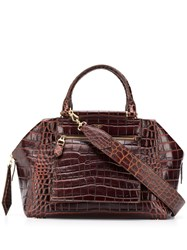 Max Mara Crocodile Effect Tote 60