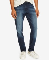 Kenneth Cole Reaction Men's Straight Fit Dark Indigo Wash Jeans