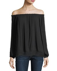 Sanctuary Artisan Chantel Off The Shoulder Top Black
