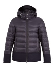 Moncler Riom Wool Trimmed Quilted Down Jacket Navy