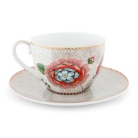 Pip Studio Spring To Life Cappuccino Cup And Saucer Cream