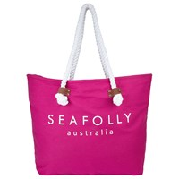 Seafolly Carried Away Ship Sail Tote Bag Pink Orchid