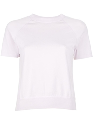 T By Alexander Wang Sheer Panel T Shirt Pink And Purple