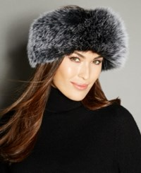 The Fur Vault Fox Knitted Headband Black Snowtop