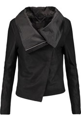 Muubaa Sinoia Draped Leather Jacket Black