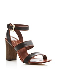 Cole Haan Delilah Open Toe Strappy High Heel Sandals Black