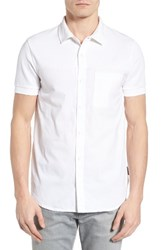 French Connection Men's Hybrid Polo Shirt White