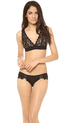 Honeydew Intimates Camellia Lace Bralette Black