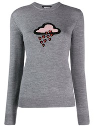 Markus Lupfer Knitted Cloud Jumper Grey