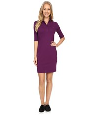 Lacoste 1 2 Sleeve Pique Polo Dress Boheme Purple Women's Dress
