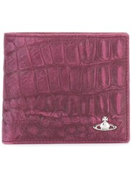 Vivienne Westwood Billfold Wallet Pink And Purple
