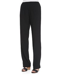Caroline Rose Cabo Straight Leg Pants Black
