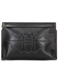 Loewe Bat T Leather Clutch Black