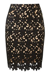 Love A Lot Black Floral Lace Skirt By Wyldr