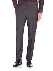 Burberry Millbank Wool And Mohair Trousers Dark Grey