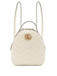Gucci Gg Marmont Quilted Leather Backpack White