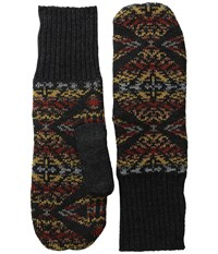 Pendleton Fleece Lined Mittens Thunder Earthquake Black Wool Gloves