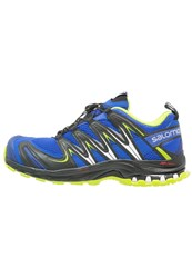 Salomon Xa Pro 3D Trail Running Shoes Cobalt Black Granny Green Blue