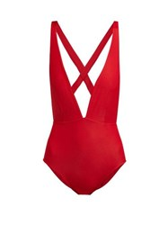 Haight Marina Tie Back Swimsuit Red