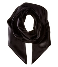 Echo Solid Long Skinny Silk Oblong Black Scarves