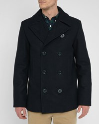 Denim And Supply Ralph Lauren Navy Wool Pea Jacket Blue