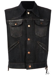 Aka 545 Denim Vest Black