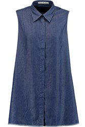Acne Studios Ash Fluid Chambray Top Blue
