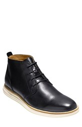 Cole Haan Men's 'Original Grand' Chukka Boot Black White Leather