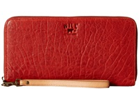 Will Leather Goods Imogene Checkbook Rust Checkbook Wallet Red
