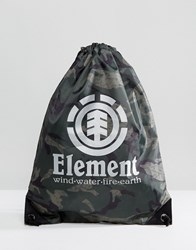 Element Buddy Sports Bag In Camo Black