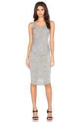 Riller And Fount Gia Midi Dress Gray