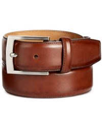 Tasso Elba Men's Feather Edge Leather Dress Belt Only At Macy's Brown