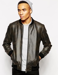 New Look Leather Bomber Black