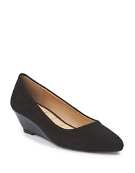 Me Too Bryana Suede Wedge Heel Pumps Black