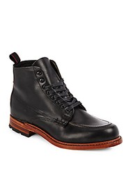 Rag And Bone Rowan Leather Lace Up Boot Black