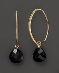 Bloomingdale's 14K Yellow Gold Small Simple Sweep Earrings With Onyx No Color