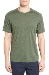 Ibex Men's Regular Fit Overdyed Merino Wool T Shirt High Line Heather