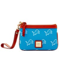 Dooney And Bourke Detroit Lions Exclusive Wristlet Blue