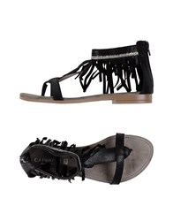 Cafe'noir Cafenoir Toe Strap Sandals Black