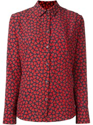 Paul Smith Ps By Printed Shirt Red