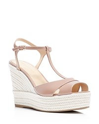 Sergio Rossi Edwige T Strap Espadrille Wedge Sandals 100 Bloomingdale's Exclusive Bright Skin