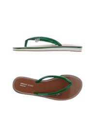 Armani Jeans Thong Sandals Green
